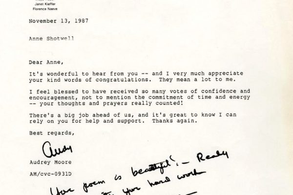 Letter to Anne Shotwell.