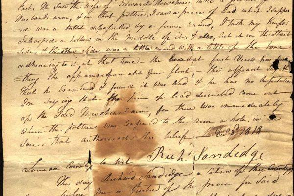 Affidavit of Richard Sandidge