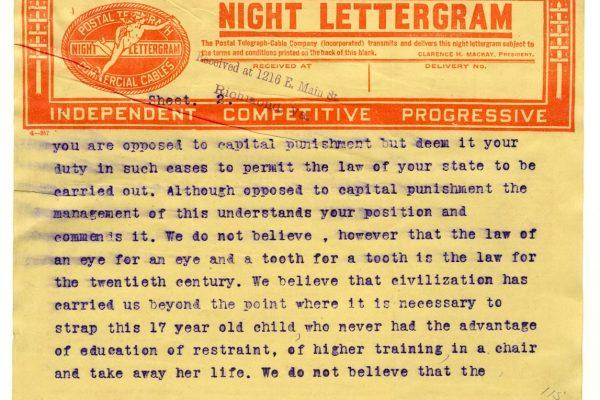 Putnam telegram (pg. 2)
