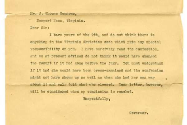 Letter from Gov. Mann to Newsome