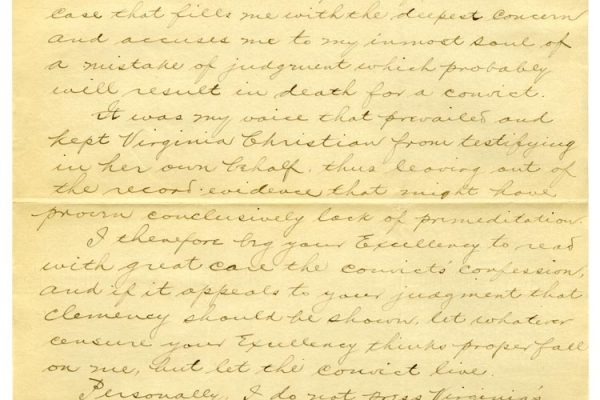 Letter from J. Thomas Newsome (pg. 1)