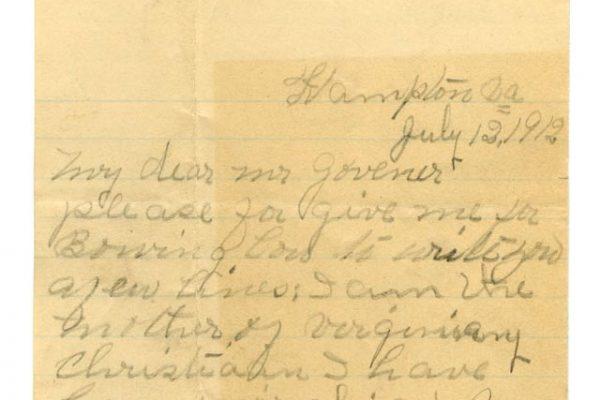 Letter from Charlotte Christian (pg. 1)