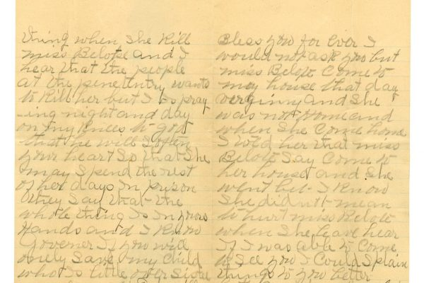 Charlotte Christian letter (pgs. 2 and 3)