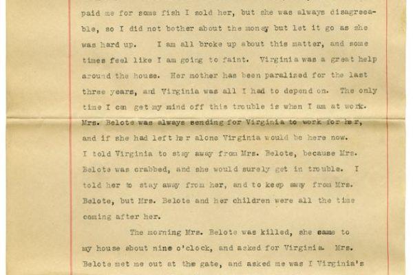 Sworn affidavit of Henry Christian (pg. 1)