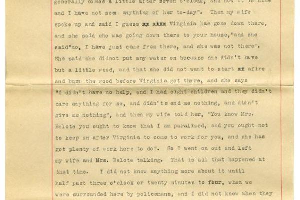 Sworn affidavit of Henry Christian (pg. 2)