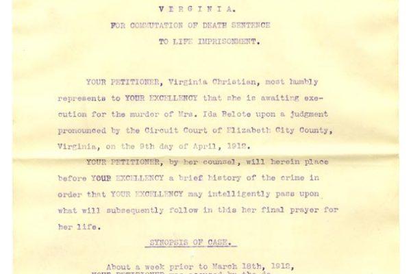 Virginia Christian Petition pg. 1