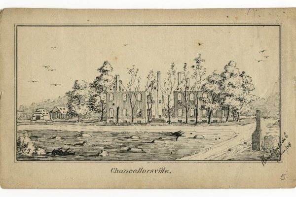 "Sketch entitled, ""Chancellorsville"""