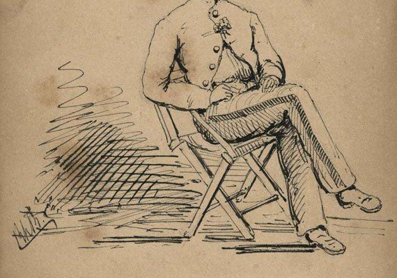 Sketch of a Confederate soldier I
