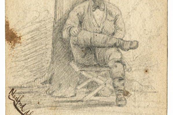 Sketch of a Confederate soldier II