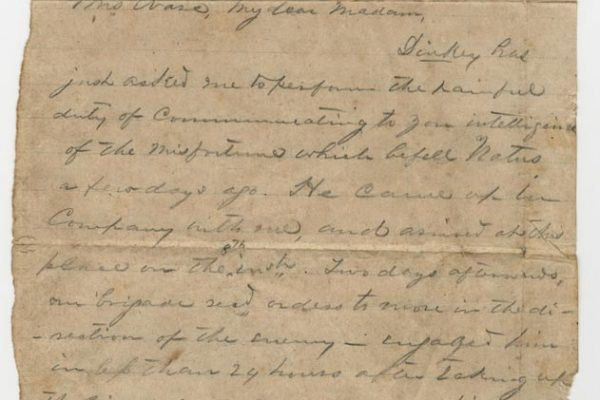 Letter to Bess Ware (pg. 1)