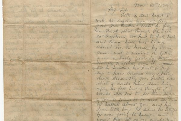 Letter from William Ware Jr. (pg. 1)