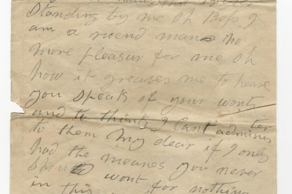 Letter from William Ware Sr. (pg. 1)