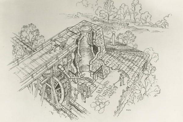 Drawing of Marlboro furnace
