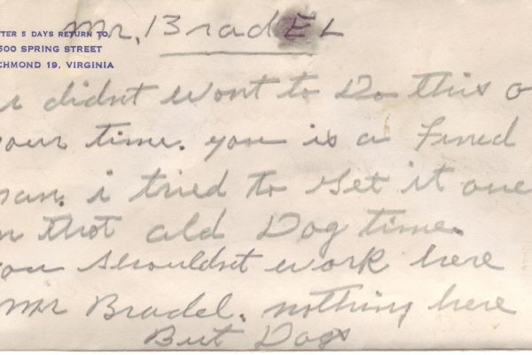 Third Suicide Note of Robinson (pg. 1)