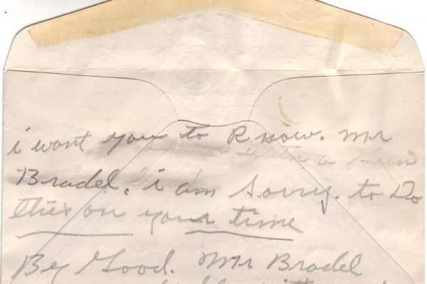 Third Suicide Note of Robinson (pg. 3)