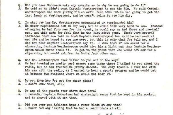 Statement of John Kensinger