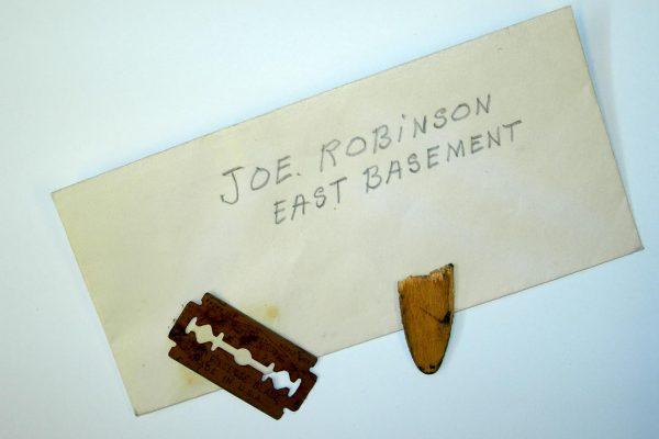 Razor blade used by Robinson
