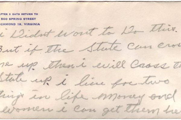 Second Suicide Note of Robinson