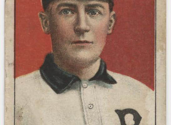 American Tobacco Company baseball card, T206 series (issued 1909-1911), featuring Perry Lipe of the Virginia League's Richmond Colts. Item originally came with a pack of Old Mill cigarettes.