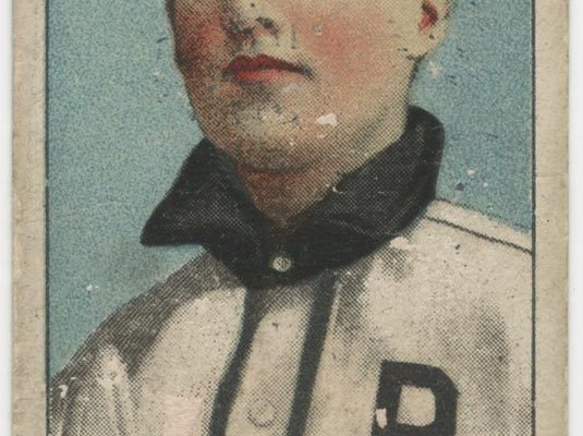American Tobacco Company baseball card, T206 series (issued 1909-1911), featuring Ray Ryan of the Virginia League's Roanoke Tigers. Item originally came with a pack of Old Mill cigarettes.