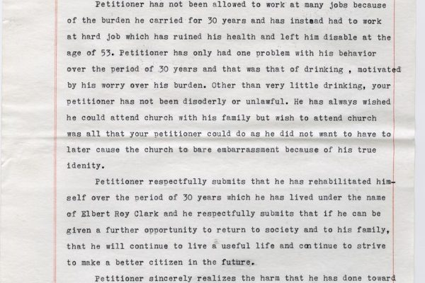 Clemency Petition of Bob Addison pg. 3