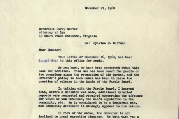 Letter from Martha Bell Conway
