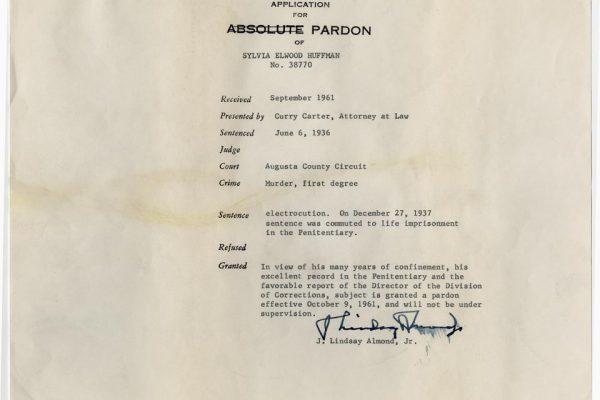 Jacket of Pardon for Huffman