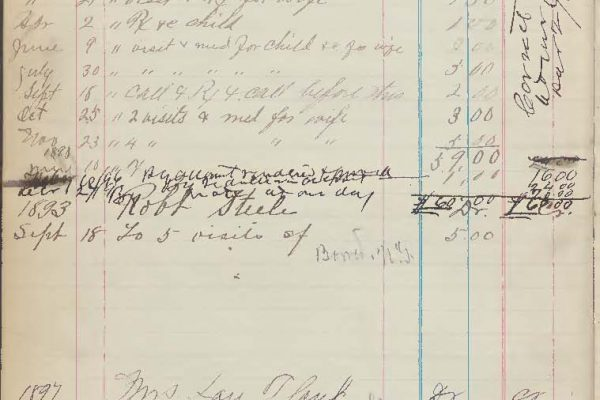 Page from Hufford's account book