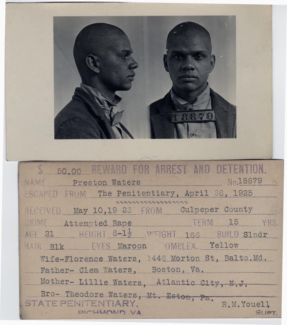 Mug Shot Monday:  Preston Waters, No. 18879 and Alfred Williams, No. 19912