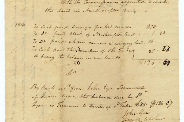 Settlement with the Gingaskin Indians pg. 1