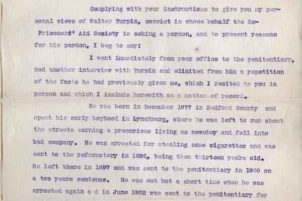 Letter from Burnett Lewis pg. 1