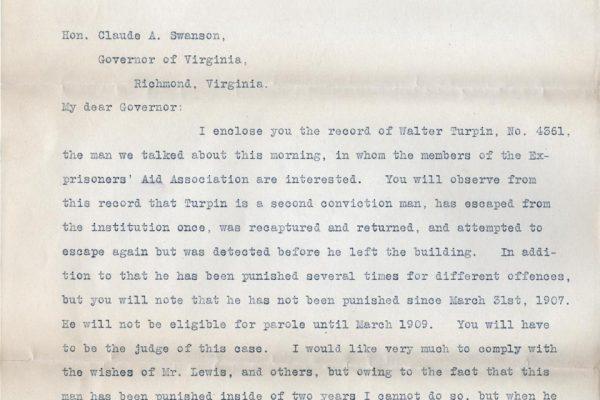 Letter from E.F. Morgan