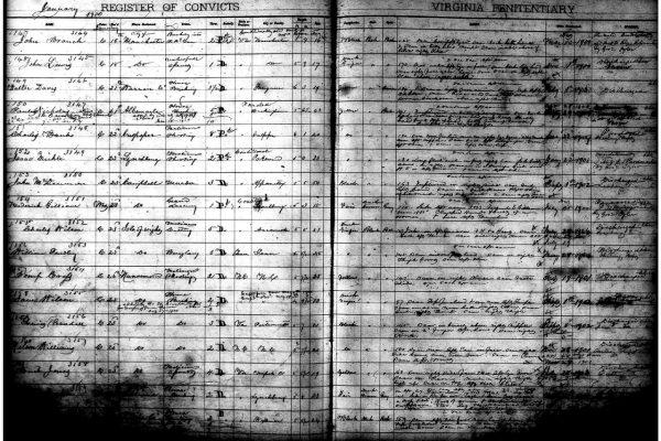 Walter Turpin Prisoner Register