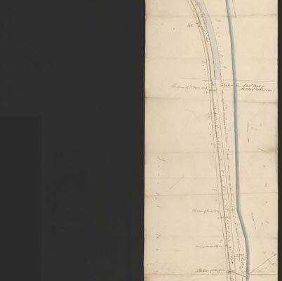 Survey showing railroad location