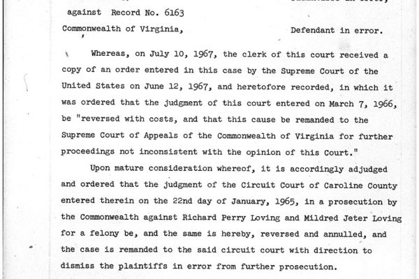 Virginia Supreme Court order
