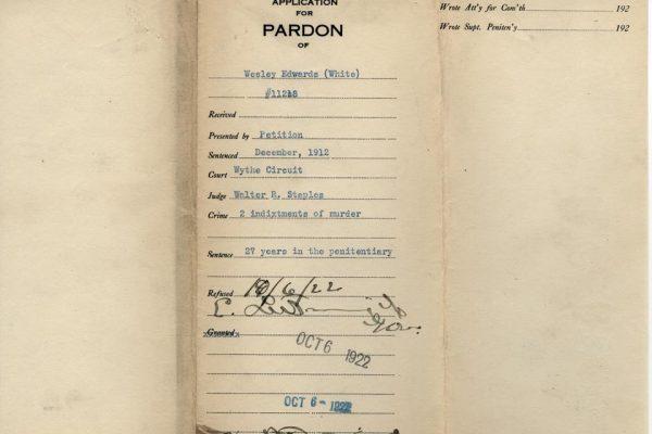Jacket of Edwards Pardon File