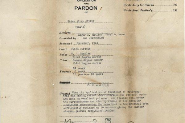Jacket of Allen Pardon File 2