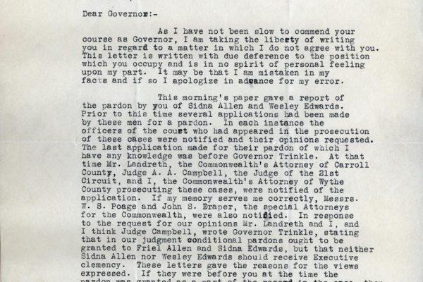 Letter from Stuart Campbell pg. 1