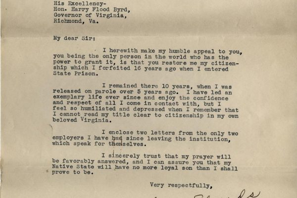 Letter from Sidna Edwards