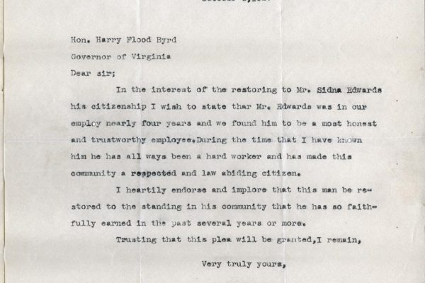 Letter from J.P. Bradshaw
