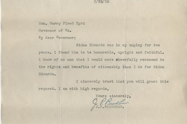Letter from J.P. Bradshaw 2
