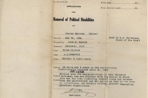 Jacket of Application for removal for Edwards
