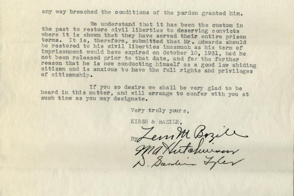 Letter from Leon M. Bazile pg. 2