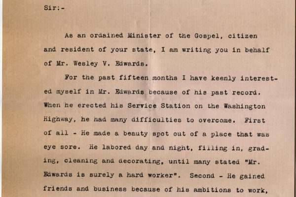 Letter from A.H. Hintz pg. 1