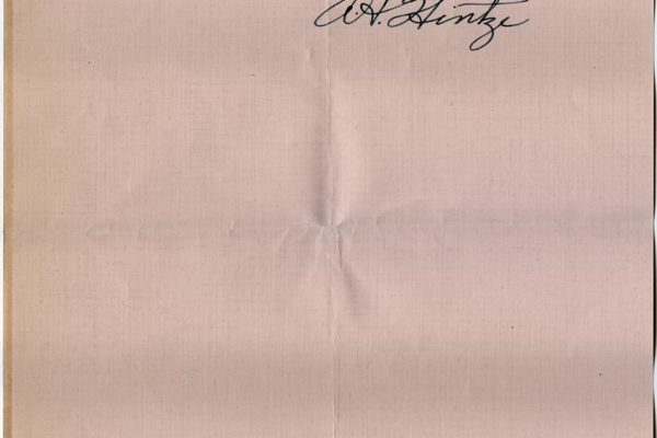 Letter from A.H. Hintz pg. 2