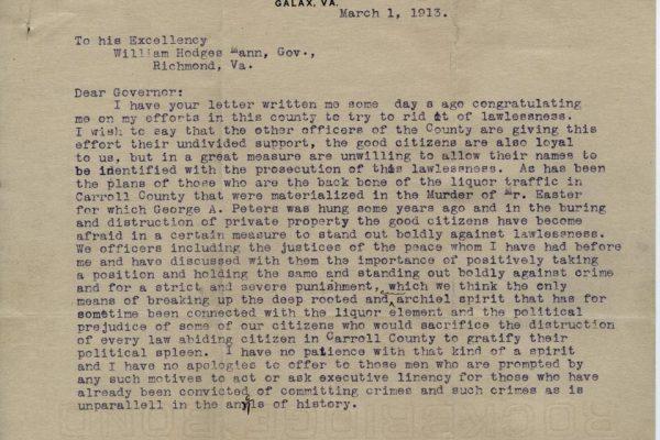 Letter from Landreth pg. 1