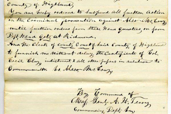 Letter from Freedmen's Bureau