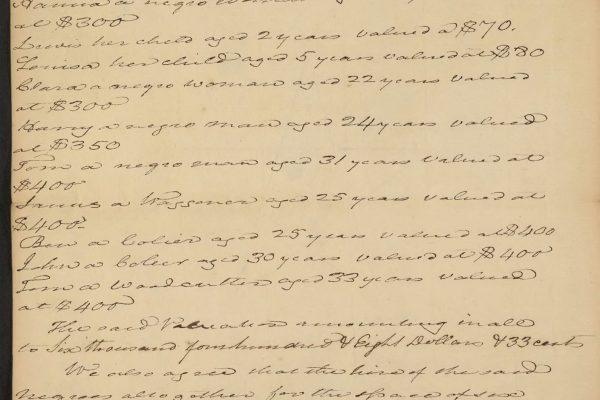 Bill of sale for 31 slaves pg. 2