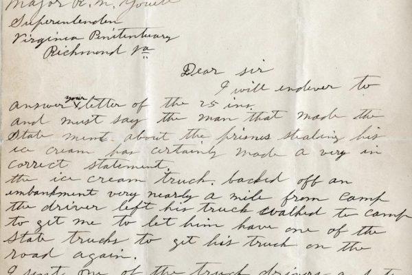 Letter from J.W. Johnson pg. 1