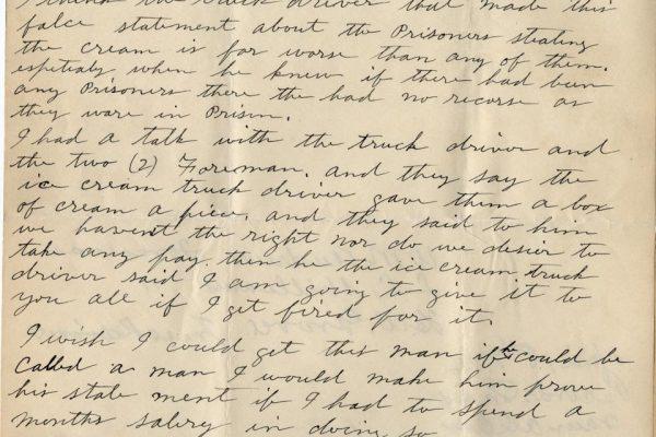Letter from J.W. Johnson pg. 2